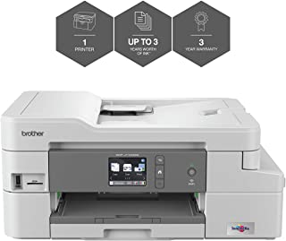 Brother DCP-J1100DW A4 Colour Inkjet Printer, All In Box Bundle, Wireless and PC Connected, Print, Copy, Scan and 2 Sided Printing, Up to 3 Years' Worth Of Printing