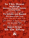 Simply Remarkable in This House We Do Disney Poster Druck