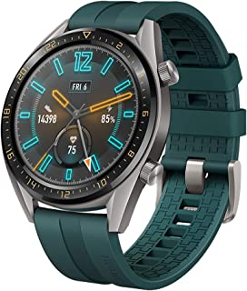 """HUAWEI Watch GT Active Smartwatch with 1.39"""" AMOLED Touchscreen, 2-Week Battery Life, 24/7 Continuous Heart Rate Tracking, Multiple Outdoor and Indoor Activities, 5ATM Waterproof, Dark Green"""