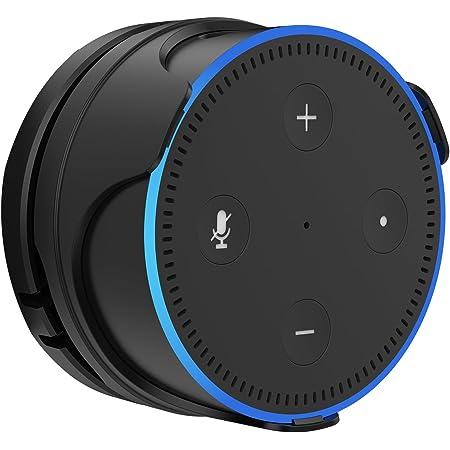 Procase Soporte para Amazon Echo Dot 2da Generación, Sporte Desmontable de Montaje en Pared, Diseño Delgado, Accesorio de Dot, Soporte en Cuarto de Baño, Dormitorio y Cocina, etc. –Negro