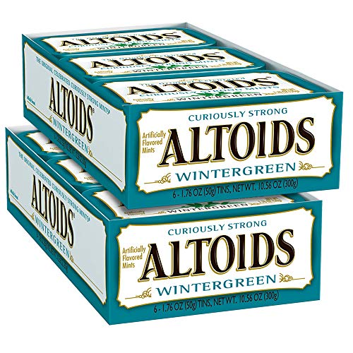 ALTOIDS Wintergreen Mints Singles Size 1.76 ounce 12-Count Box