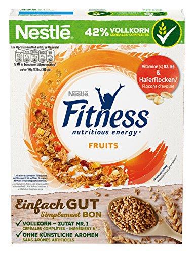 Nestlé Fitness Fruits Frühstückscerealien mit Vollkorn und leckerem Frucht-Mix, 375 g