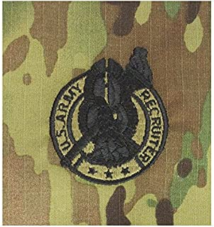Vanguard Army Embroidered Badge ON OCP SEW ON: Recruiter Silver