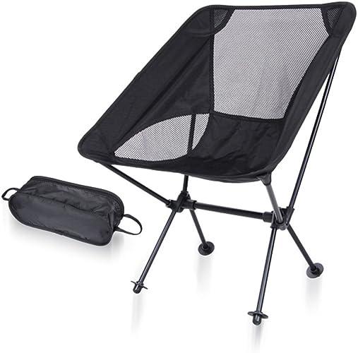 Hommesg wei shop Chaise Pliante Ultra-légère portative   Chaise de Camping en Plein air BBQ   Chaise de Lune   Tabouret de pêche d'alliage d'aluminium d'aviation   Peut Charger 150kg