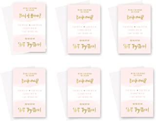 Will You Be My Bridesmaid Cards - 6 Pack- Blush and Gold