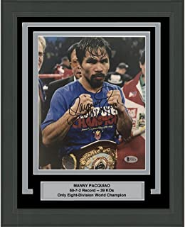 Autographed//Signed Manny Pac-Man Pacquiao Boxing 8x10 Photo Beckett BAS COA #26