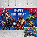 Avengers Background Marvel Birthday Party Supplies Backdrop 5x3ft Superhero Theme Background Photography for Kids Birthday Banner Boys Birthday Party Decorations Banner Photo Booth Props