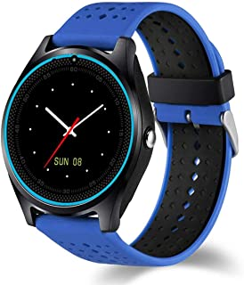 TIANYOU Smart Watch, con Cámara Smart Watch Pedómetro Salud Deporte Reloj Horas Hombres Mujeres Smart Watch para Android Ios Fácil de Usar-Blue Exclusivo/Azul