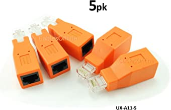 CablesOnline 5-PACK Cat6 / Cat5e Ethernet RJ45 Male/Female CrossOver Adapter (UX-A11-5)