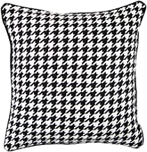 DOKOT Black and White Throw Pillow Covers Square Cushion Cover for Home Decorative Houndstooth 18x18 inches(45x45cm)