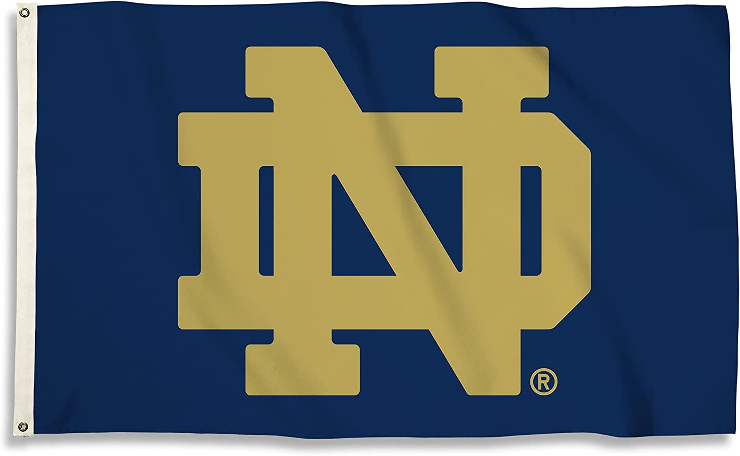Sale Cheap mail order specialty store item NCAA Notre Dame Fighting Irish 3 with Flag 5 X Ft. Grommets