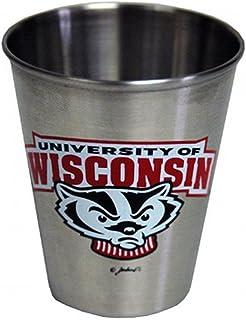 NCAA Wisconsin Badgers Shotglass Stainless Steel