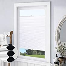 """Keego Top Down Bottom up Cellular Shades Blackout, Custom Cut to Size Window Blinds, White, 30 1/2"""" W x 64"""" H, Room Darken..."""