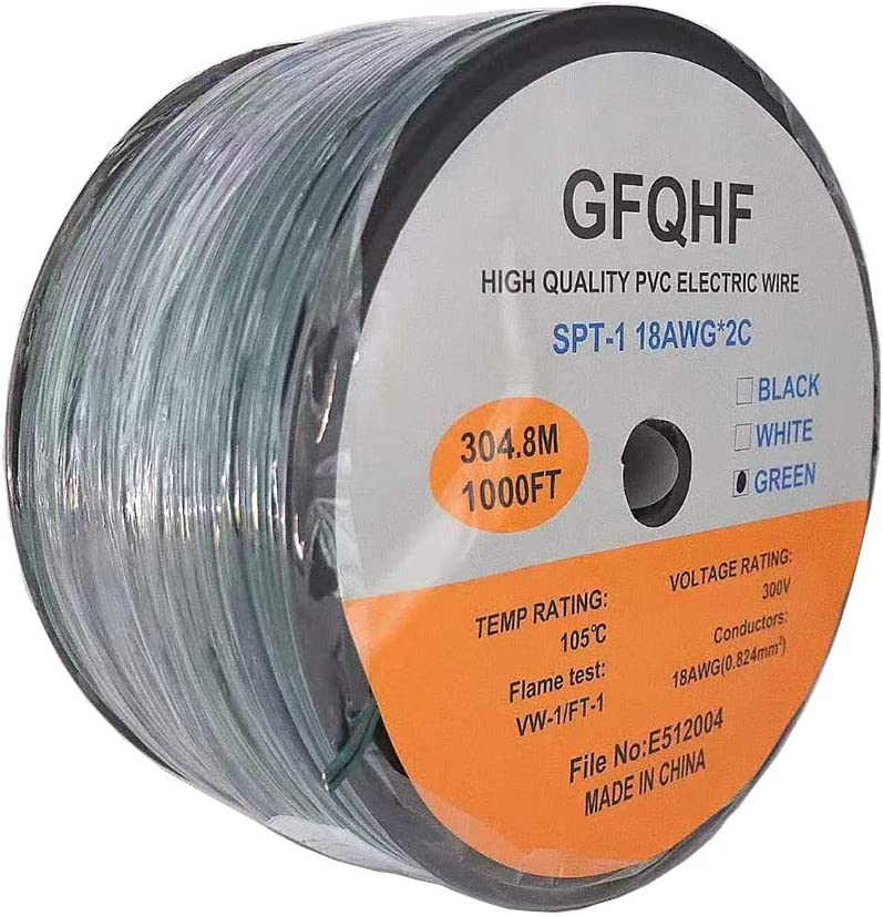 GFQHF Max 83% OFF UL Listed SPT-1 2 Zip Cord 18 Extension Price reduction Wire Electrical