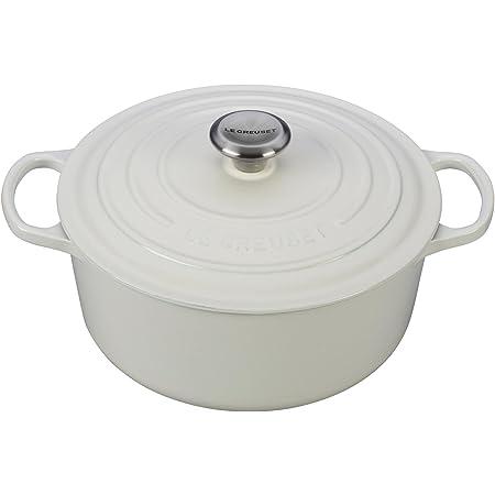 Le Creuset Enameled Cast Iron Signature Round Dutch Oven, 5.5 qt., White