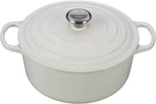 Le Creuset Signature Enameled Cast-Iron 5-1/2-Quart Round French (Dutch) Oven, White