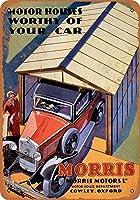 1932モリスモーターハウスガレージコレクタブルウォールアートティンサイン