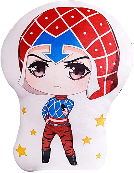 Bowinr JoJo S Bizarre Adventure Golden Wind Throw Pillow Super Kawaii Anime Plush Doll Toy For Home Sofa Decor 18 Inch Guido Mista