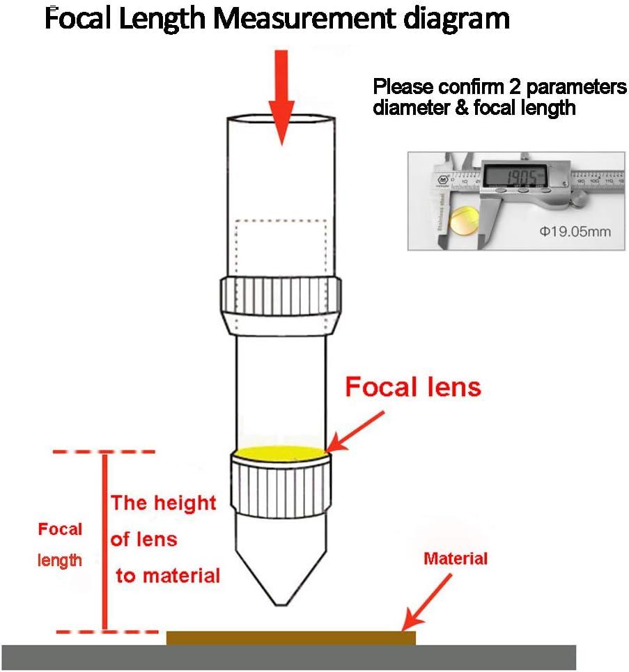 1//25.4mm FL: 1 TEN-HIGH Diameter 12mm Focal Lens for CO2 Laser Cutting Engraving Machine Superior Transmittance Materials