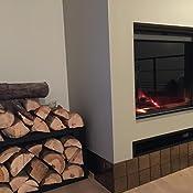 en.casa Porte-B/ûches Robuste Range-B/ûches Solide Support pour Bois de Chauffage Rangement Efficace pour Int/érieur Ext/érieur Acier Laqu/é 40 x 100 x 25 cm Blanc
