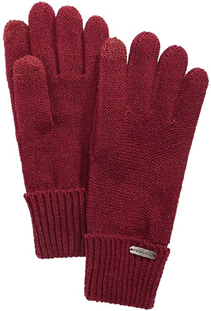 Steve Madden Boyfriend iTouch Gloves in Maroon