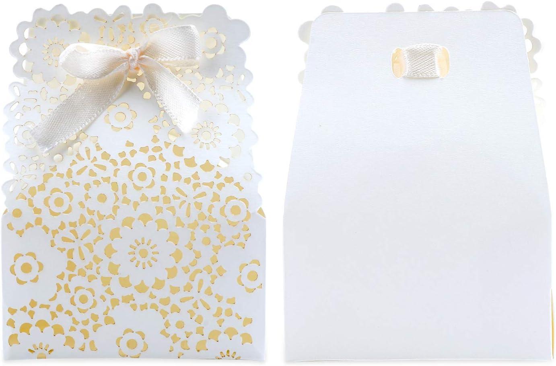 Amazon.de TsunNee Hohle Papier Süßigkeiten Box, Blumen Muster ...