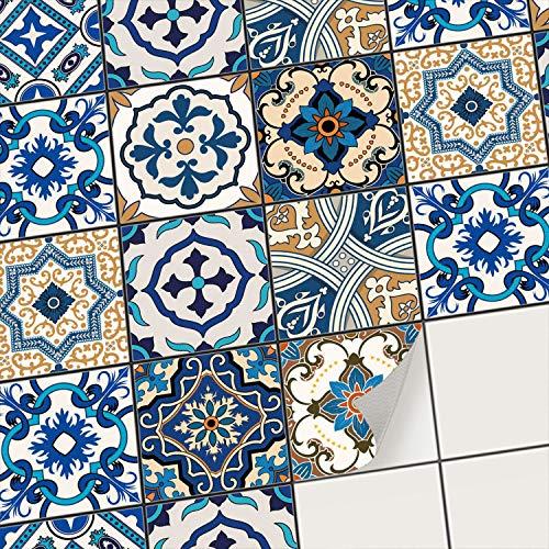 creatisto Fliesenfolie Fliesenaufkleber Mosaikfliesen - Klebefolie Aufkleber für Wand-Fliesen I Stickerfliesen - Mosaikfliesen für Küche, Bad, WC Bordüre (10x10 cm I 72 -Teilig)