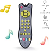 NUOEY Kids Musical TV Remote Control Toy with Light and Sound, Early Education Learning Remote Toy for 6 Months+ Toddlers ...
