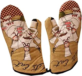 Dragon Troops Heat Resistant Kitchen Oven Mitts (Set of 2) for BBQ/Cooking/Baking/Grilling,#D