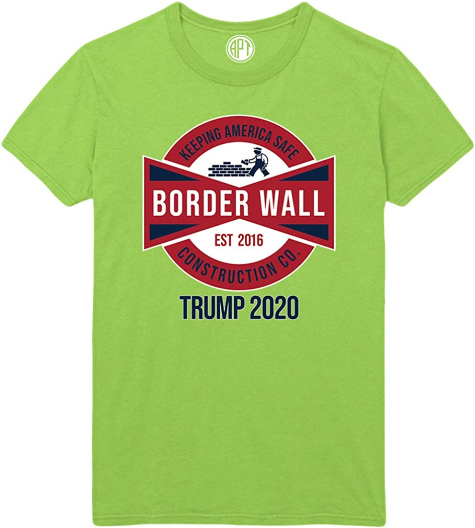 Build The Wall Keep America Safe Trump 2020 Printed T-Shirt
