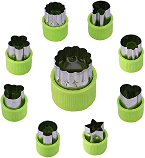 SKEIDO Stainless Steel Vegetables Fruit Shape Cutters Set Kid Food Mold Mini Cute Sandwich Cookie Mould and Biscuit Cutter...