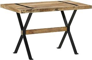 Tidyard Table de Salle à Manger Rectangulaire, Table de Repas Meuble à Manger, Table Console Extensible 120x60x76 cm Bois ...
