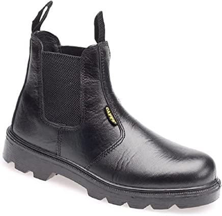 Capps LH829 Antistatic Sole Black Grain Leather Safety Dealer Boot with Steel Toe Caps