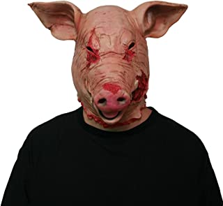 Halloween Scary Mask Horror Mask Masquerade Pig Head Mask Animal Cosplay Costume The Latex Mask