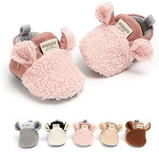 Baby Boys Girls Cozy Fleece Booties with Non Skid Bottom Warm Winter Socks