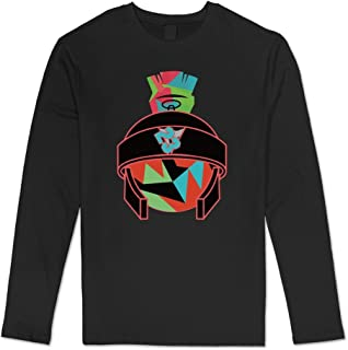 100% Cotton Man's Colorful Marvin Martian T-Shirts Long-Sleeve