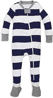 Baby Boys' Unisex Pajamas, Zip-Front Non-Slip Footed Sleeper Pjs, Organic Cotton
