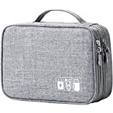 Mairle Travel Cord Cable Organizer Portable Electronics Accessories Carrying Bag Storage Case, Grey