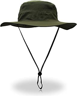 QingFang Wide Brim Sun Hat Mesh Bucket Hat Lightweight Bonnie Hat Perfect  for Outdoor Activities ab443b68a2e5