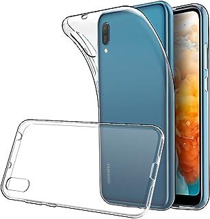 LuluMain ケース適応 ファーウェイ Huawei Y6 2019, Honor Play 8A バンパーカバー 衝撃吸収 傷つけ防止 (クリア)