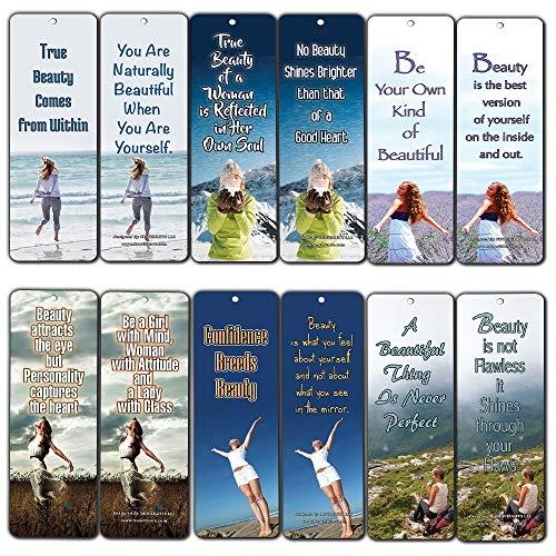 Carte di segnalibri per le donne (12 pezzi) - Regali di incoraggiamento per mamma, la moglie, il migliore amico - Stocking punterie per il nuovo anno di compleanno di festa di Natale