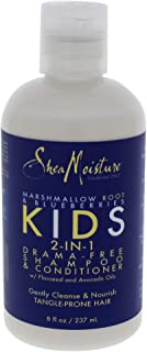 Shea Moisture Marshmallow Root and Blueberries Kids 2-in-1 Shampoo and Conditioner for Unisex, 8 Ounce
