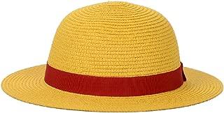 Straw Hat Performance Animation Cosplay Accessories Hat Summer Sun Hat Yellow