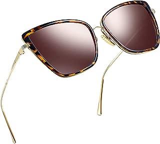 Oversized Cateye Sunglasses for Women, Fashion Metal...