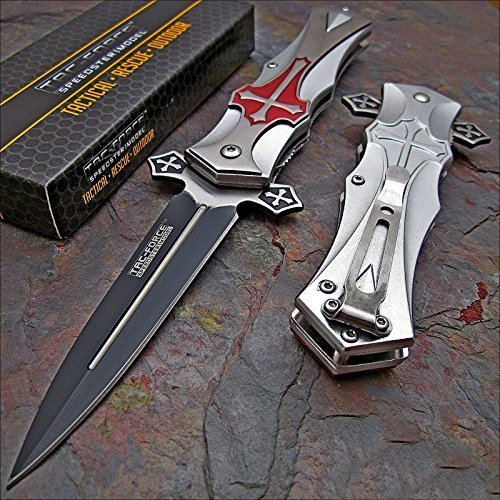 Tac-force RED Cross Folding Blade Pocket Knife by Get