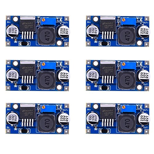 Amazon.com - 6pcs LM2596 DC to DC Buck Converter 3.0-40V to 1.5-35V Power Supply Step Down Module
