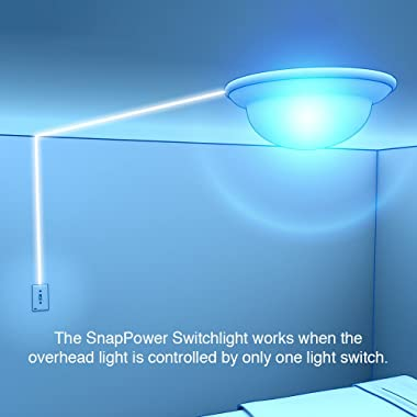 Single - SnapPower SwitchLight - LED Night Light - for Single-Pole Light Switches - Light Switch Plate with LED Night Lights