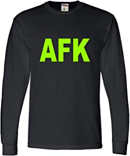 Go All Out Adult Away from Keyboard AFK Funny Gamer PC Gaming Long Sleeve T-Shirt