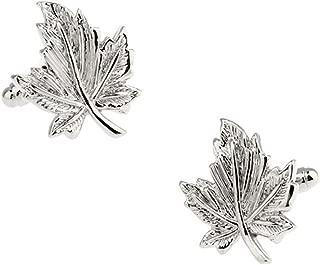 Silver Maple Leaf Cufflinks in a FREE Luxury Ashton and Finch Presentation Box. Novelty Canada Tree Theme Jewellery