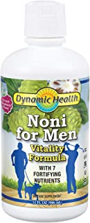 Dynamic Health Noni for Men   Liquid Noni Supplement for Sexual Energy   With Horny Goat Weed, Yohimbe & More   Raspberry ...